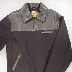 Harley Davidson  Wool/Leather Jacket (Mens Small)
